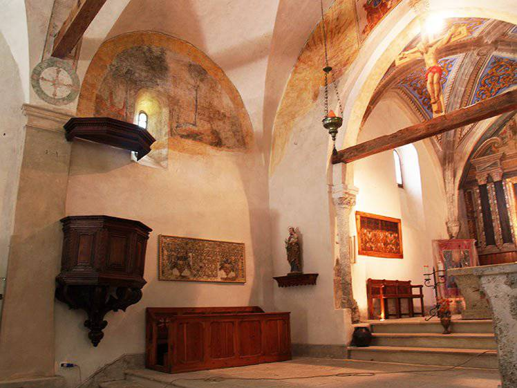 Restauro affreschi e tele, grandi restauri – Chiesa di San Restituto a Sauze di Cesana