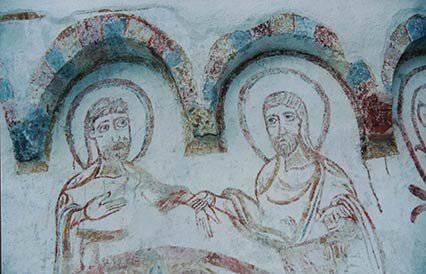 Restauro facciate dipinte Susa (TO) Cattedrale di San Giusto