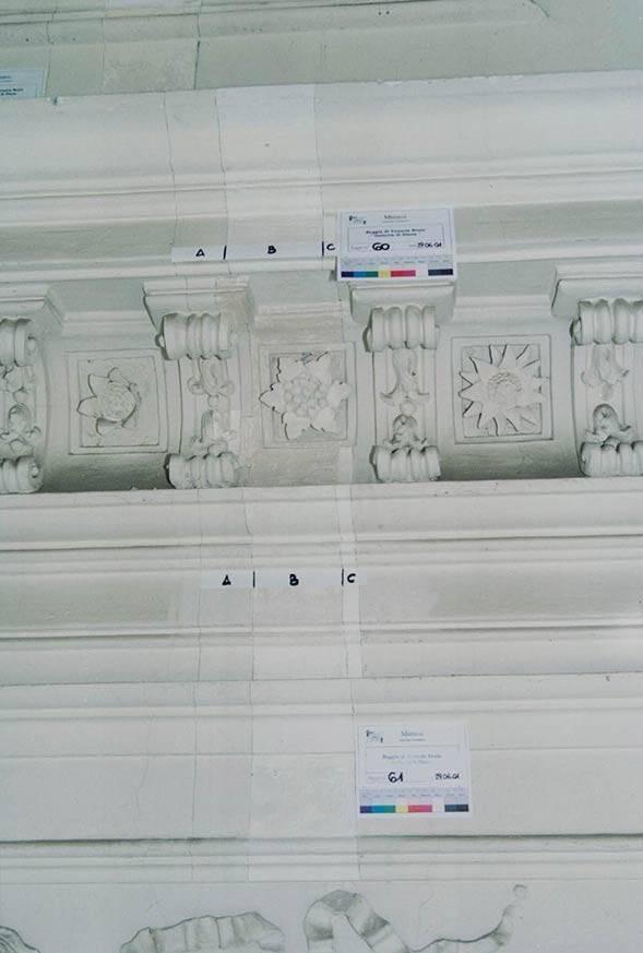Diagnostica applicata ai beni culturali Venaria Reale (TO), Galleria di Diana – saggio stratigrafico
