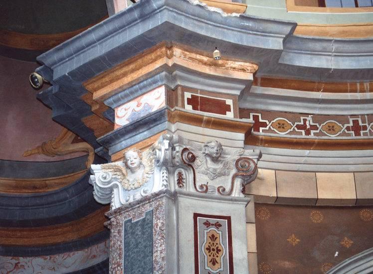 Restauro beni culturali, grandi restauri, restauro lapideo a Cumiana (TO) - Chiesa SS. Rocco e Sebastiano - XVIII-XIX Sec - Stucchi