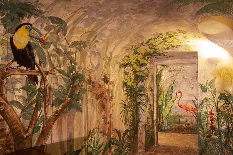 Trompe l'oeil, pareti artistiche nella spa del Castello di Guarene