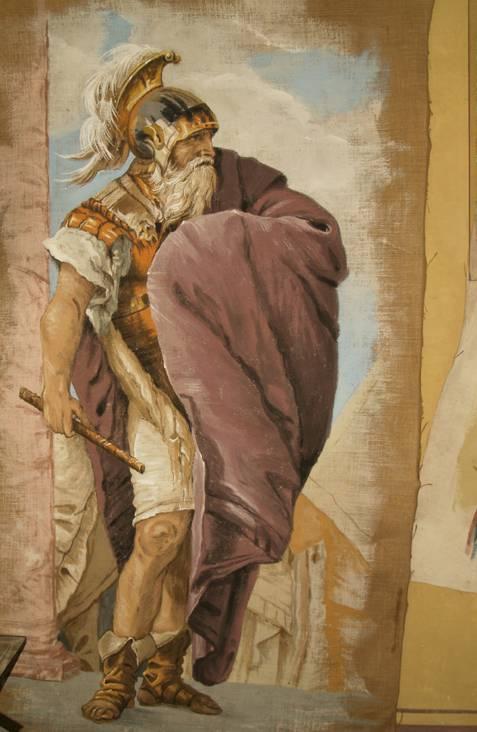 Pareti artistiche, trompe l'oeil, riproduzione opera del Tiepolo