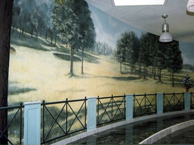 Trompe l'oeil, pareti artistiche – parete decorata