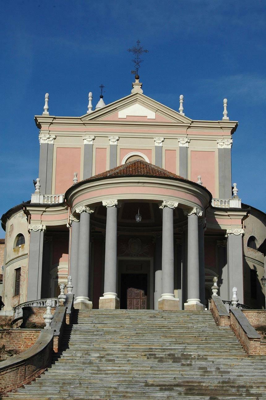 Restauro facciate dipinte a Montemagno (AT) Chiesa Parrocchiale S.M.Assunta