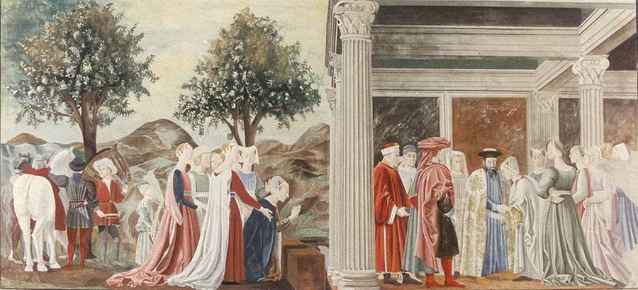 Arredamento creativo – riproduzione su tela di Piero della Francesca