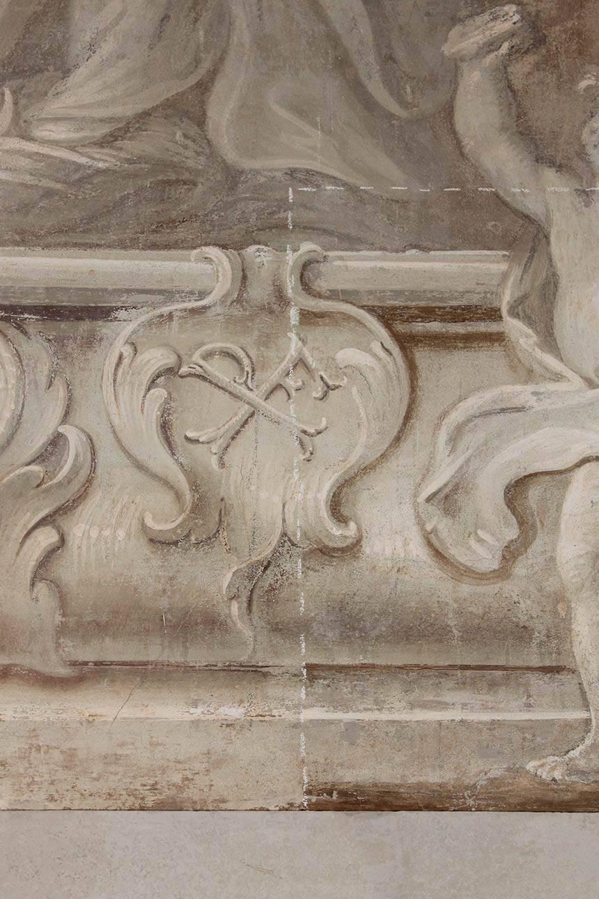 Restauro affreschi Villa Botteri a Rivoli (TO)