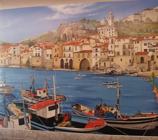 Trompe l'oeil e pareti artistiche – barca dipinta