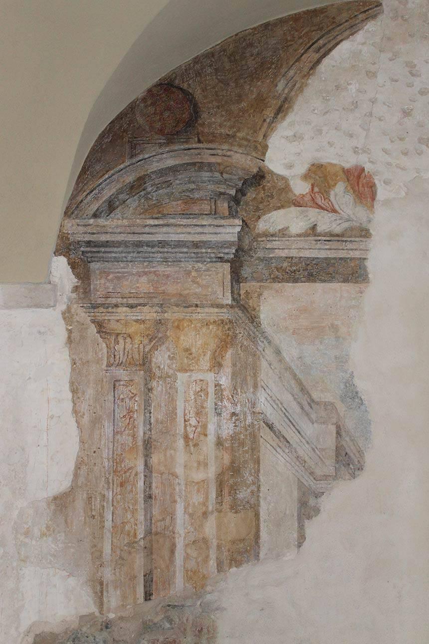 Restauro affreschi villa Botteri a Rivoli