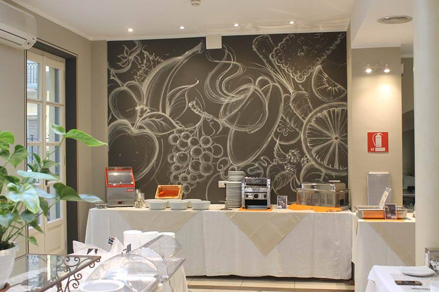 Pareti artistiche, pareti creative a Torino, Hotel Roma