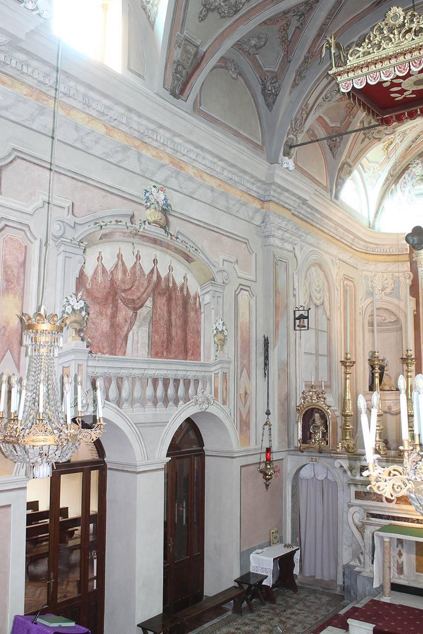 Restauro affreschi Carmagnola (TO) Chiesa di San Bernardo