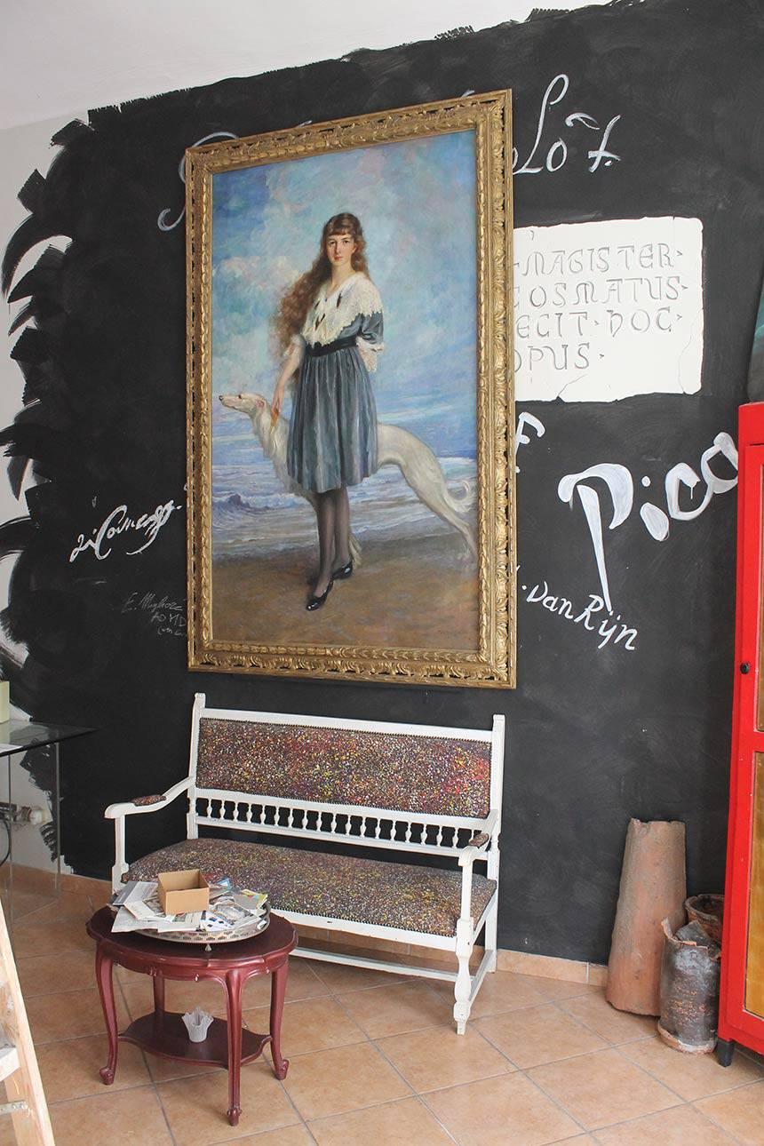 Restauro tele in abitazione privata a Torino (dopo l'intervento)