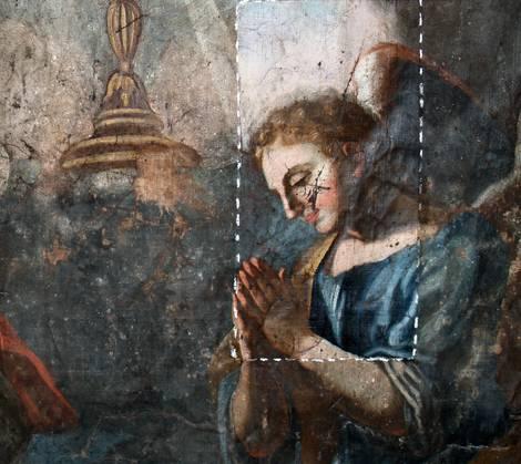 Restauro affreschi e tele, restauro beni culturali – tela prima e dopo