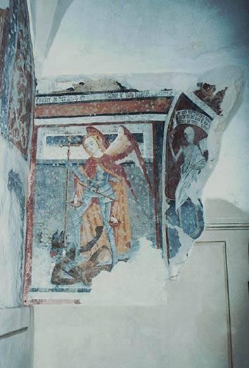 Restauro affreschi Oulx, fraz. Coustans Chiesa San Bernardo