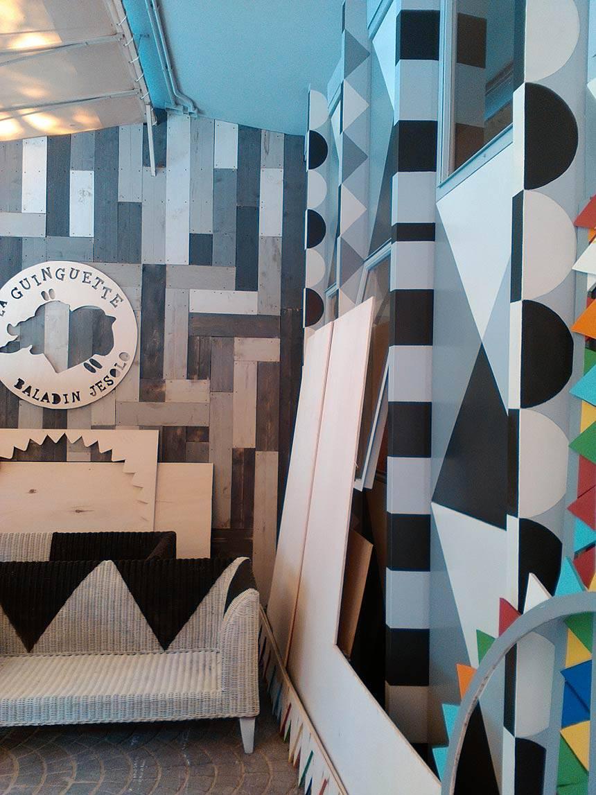 Arredamento creativo riciclaggio mobili Birrificio Baladin