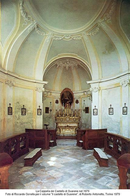 Restauro affreschi Cappella interna Castello di Guarene (CN) – prima del lavoro