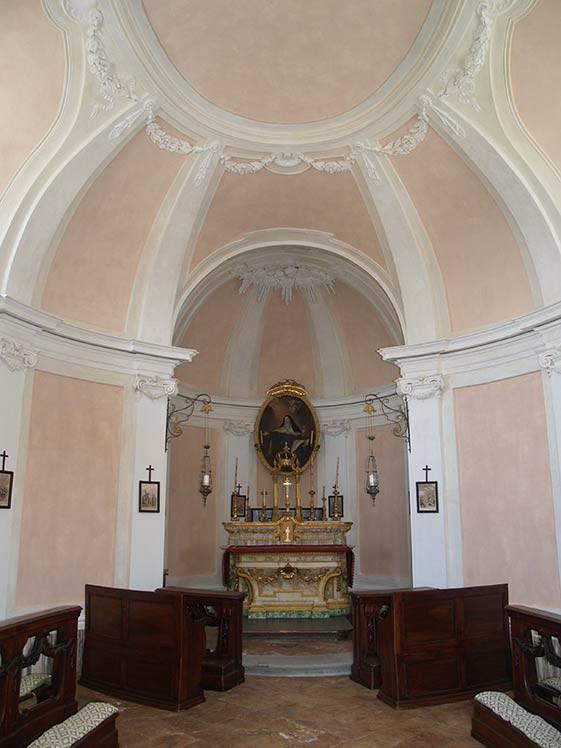 Restauro affreschi Cappella interna Castello di Guarene (CN) – dopo l'intervento