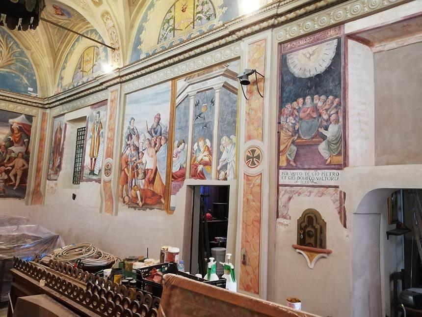 Restauro affreschi Chiesa di Santa Caterina, Costanzana (VC)