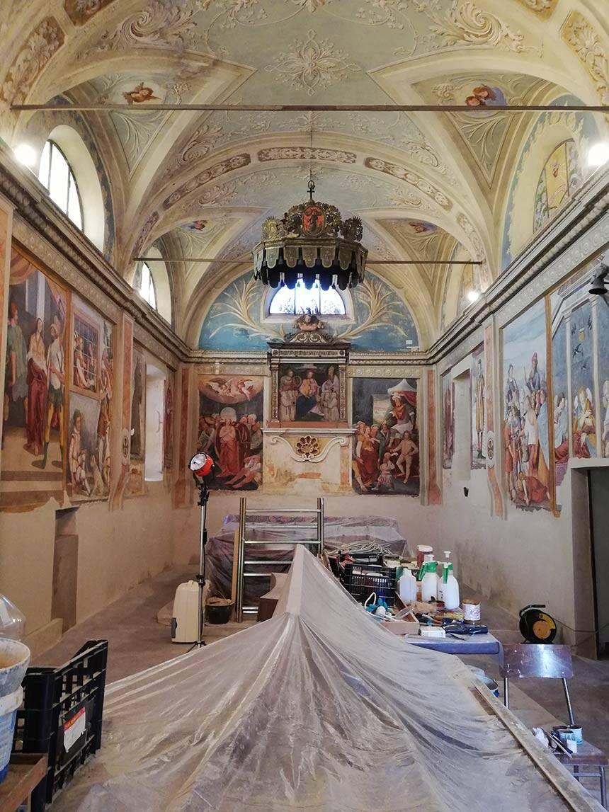 Restauro affreschi nella Chiesa di Santa Caterina, Costanzana (VC)