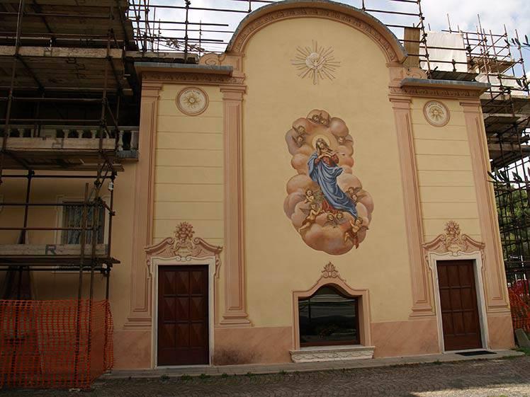 Restauro facciate dipinte chiesa Albisola (SV)