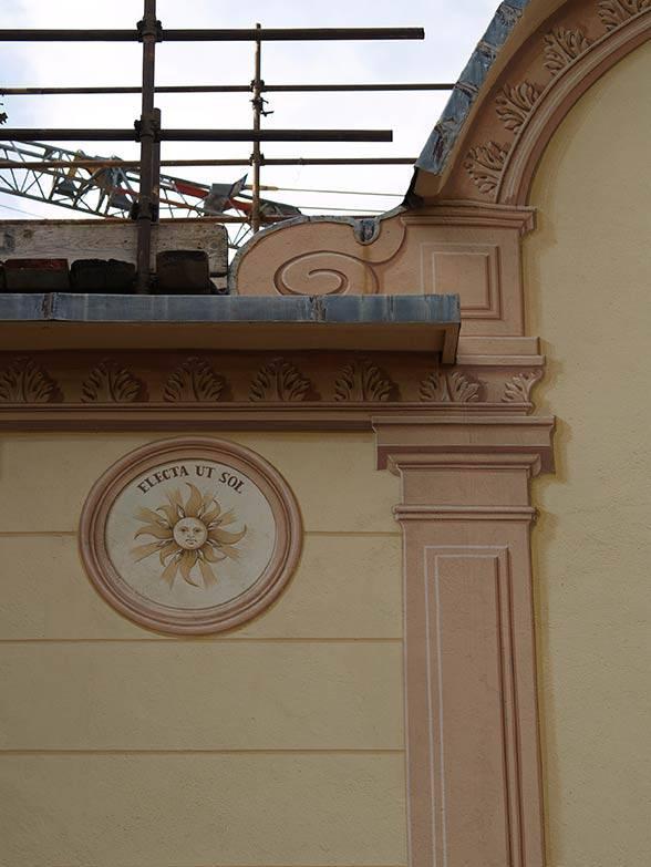 Restauro facciate dipinte chiesa di Albisola (SV)