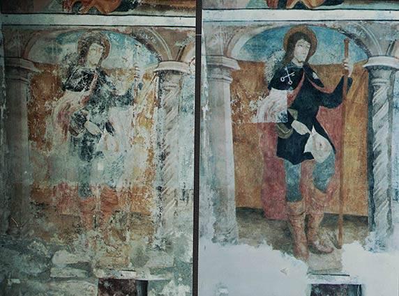 Restauro affreschi Susa fraz. Polveriera (TO) Cappella N.S. delle Grazie
